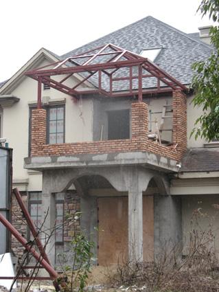 别墅砖砌院墙效果图